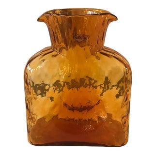 Blenko Textured and Patterned Vase/ Vessel For Sale