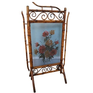 Antique 19th Century Bamboo Fire Screen For Sale