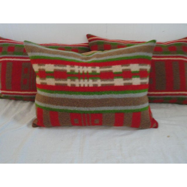 19th Century Horse Blanket Bolster Pillows For Sale - Image 4 of 5