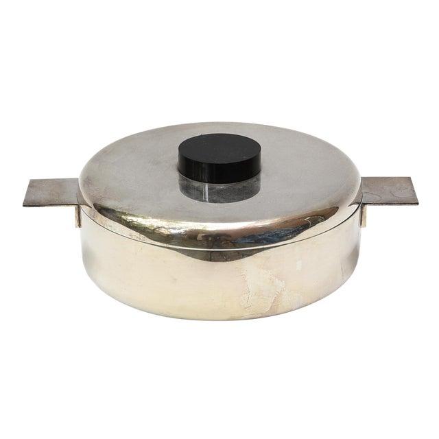 Lino Sabattini Silver Plated Bowl and Lid For Sale
