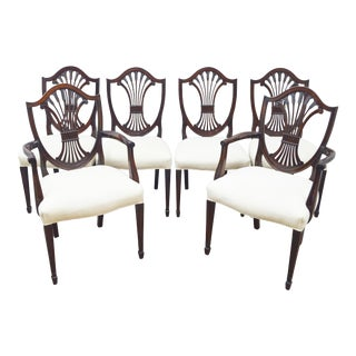 """Stickley """"Monroe Place"""" Set of 6 Mahogany Dining Chairs For Sale"""