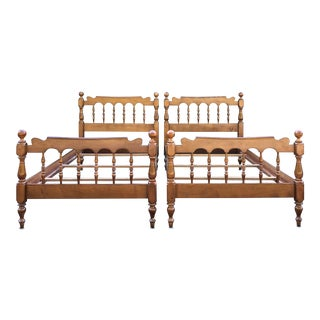 Kling Solid Maple Twin Beds- a Pair For Sale