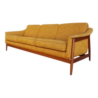 Folke Ohlsson for Dux Teak Danish Modern Sofa For Sale