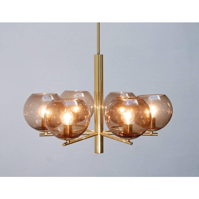 1960s German Globe Chandelier For Sale - Image 5 of 10