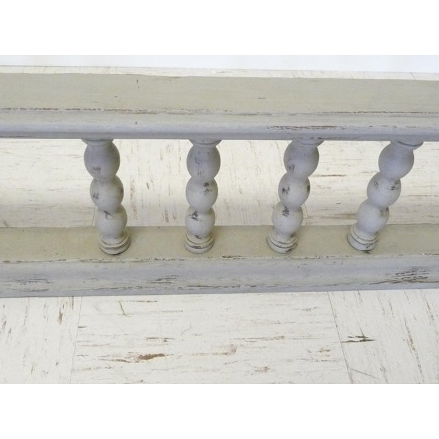 Gray Antique European Oak Fireplace Fender W Spindles For Sale - Image 4 of 5