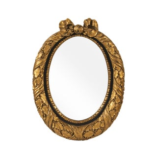 French Gilded Oval Mirror