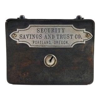 Vintage Metal Copper Bank Security Savings & Trust Portland Oregon