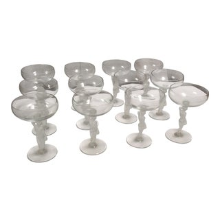 Figural Nude Crystal Champagnes - Set of 12 For Sale