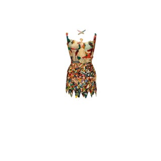 Extraordinary Mixed-Media Vintage Dress Form Sculpture For Sale