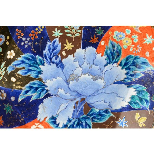C.1850, Imari flower charger with very unusual decoration. One of four available.