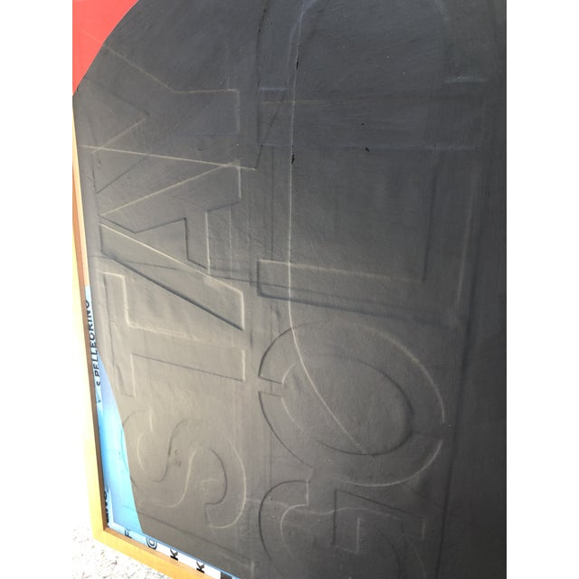 Black Original Abstract Mixed Media Painting by William Finlayson For Sale - Image 8 of 11