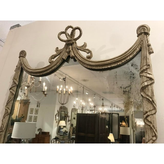 19th Century French Carved Swag and Tassel Mirror For Sale - Image 5 of 7
