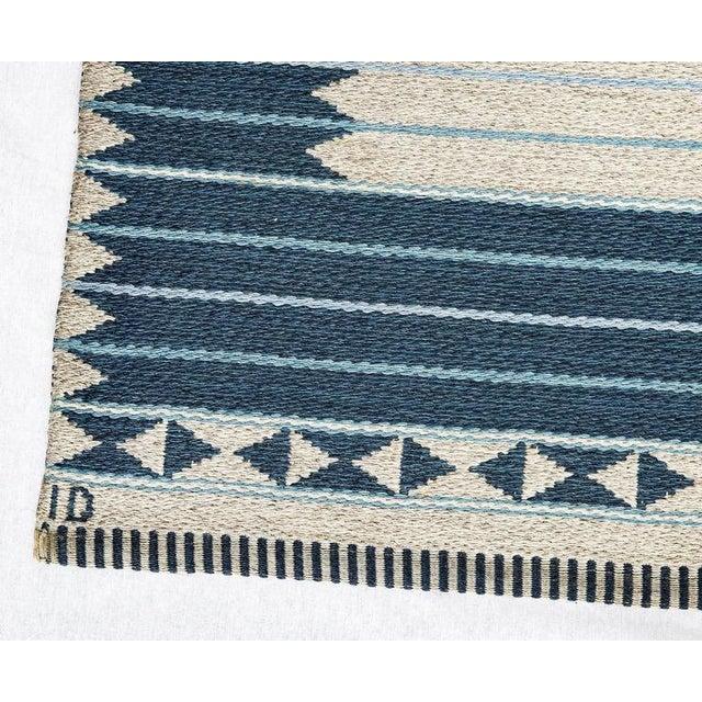 Mid-Century Modern Vintage Ingrid Dessau Flat-Weave Swedish Carpet For Sale - Image 3 of 5