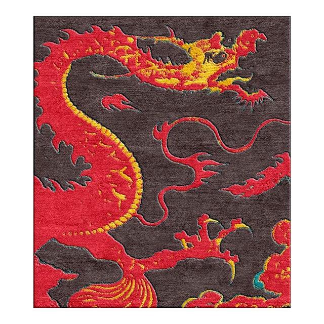 "Shivhon ""Ryu"" Dragon Motif Hand-Tufted Area Carpet - 10.5 x 15' For Sale"