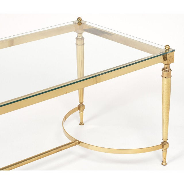 1950s Mid-Century Vintage Brass Coffee Table For Sale - Image 5 of 10