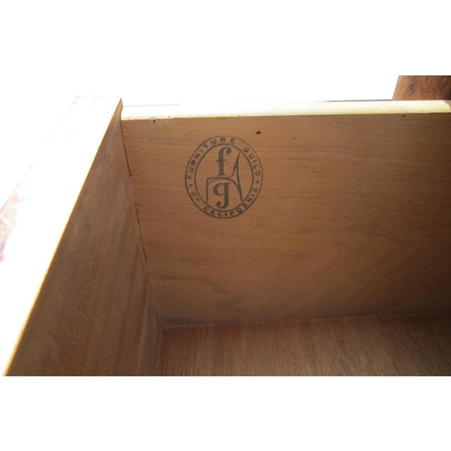 Furniture Guild of California Walnut Dresser For Sale - Image 7 of 8
