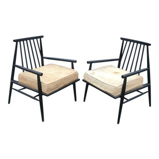 Rare Pair of Paul McCobb Lounge Chairs Predictor Group by O'Hearn Furniture For Sale