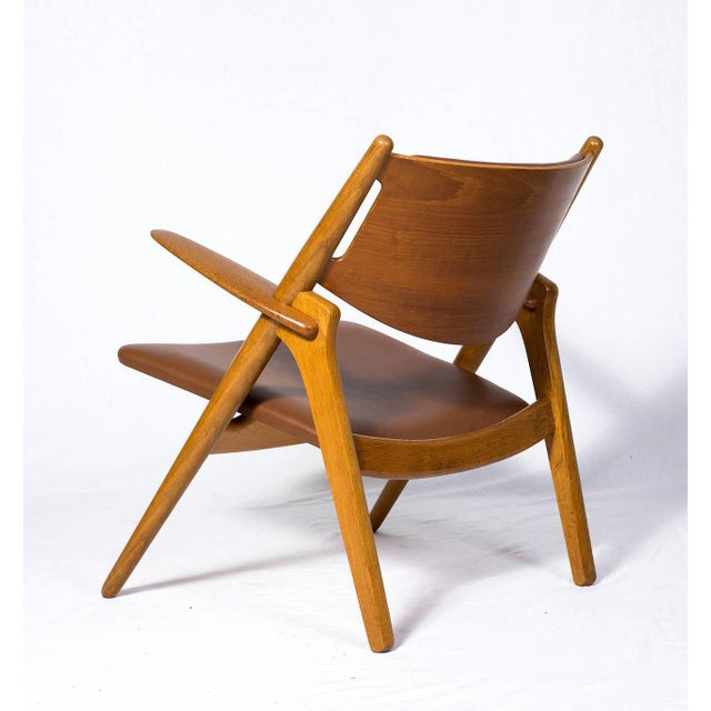 1950s Hans Wegner CH-28 Lounge Chair For Sale - Image 5 of 10