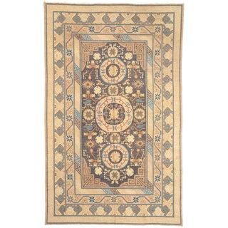 Early 20th Century Chinese Khotan Rug- 7′11″ × 12′8″ For Sale