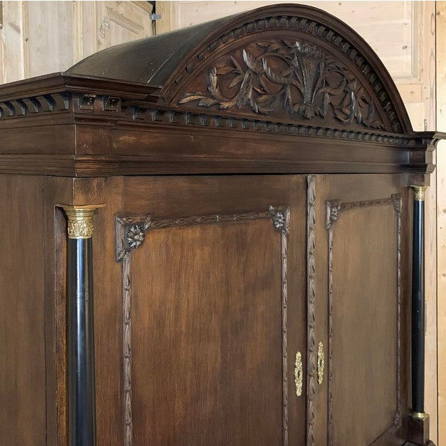 Late 18th Century 18th Century Dutch Hand Carved Linen Press For Sale - Image 5 of 13