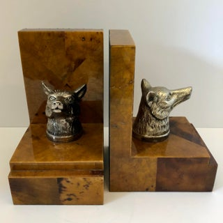 1980s Vintage Penshell Bookends With Fox Head - a Pair Preview
