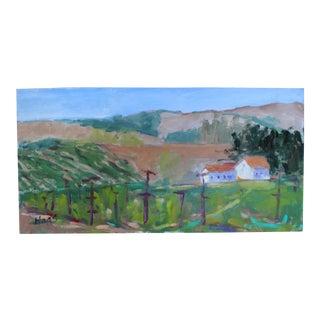 Original Painting, Plein Air Sonoma Farm California For Sale