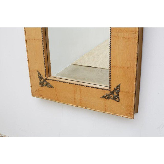 Pair of Bamboo Mirrors With Book Motif For Sale - Image 9 of 12