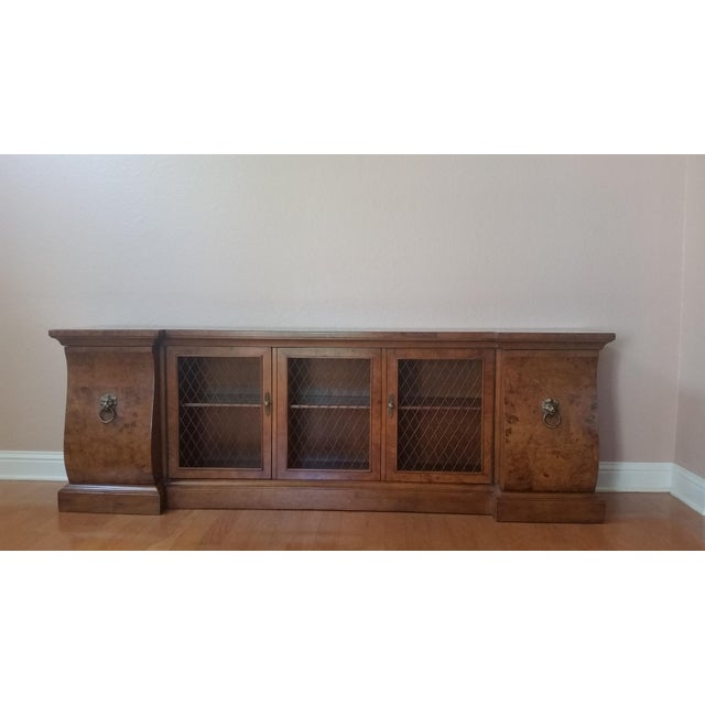 French-Style Burled Wood Credenza For Sale - Image 10 of 10