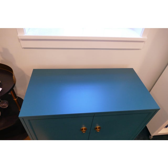 Tea Century Chest With Gold Hardware For Sale - Image 9 of 11