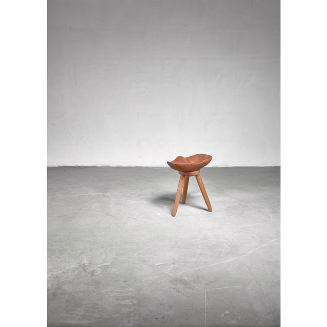 Mid-Century Modern Sculptural Swedish Craft Stool For Sale - Image 3 of 5