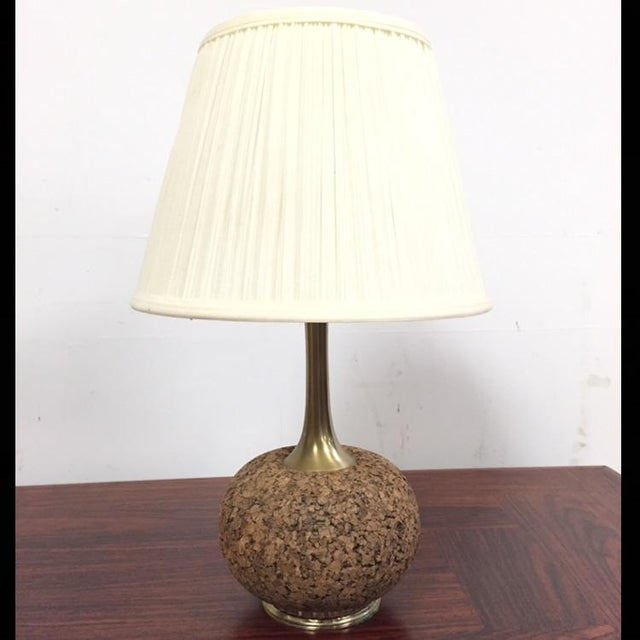 Cork & Brass Table Lamp - Image 2 of 6