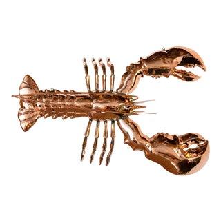 Copper Large Lobster Trade Sign For Sale