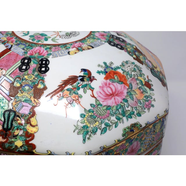 1950s Vintage Asian Famille Rose Medallion Octagonal Treasure Bowl For Sale - Image 5 of 12