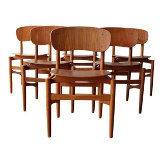 Mid Century Vintage Danish Dining Chairs- Set of 6 For Sale