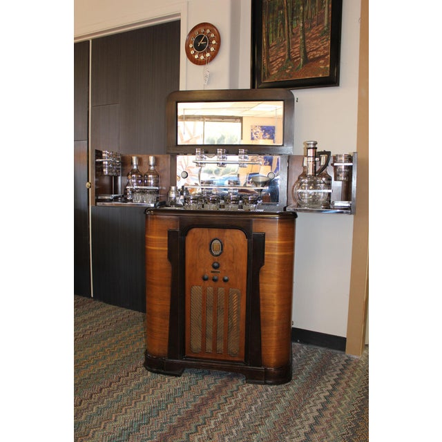 Rare Philco bar cabinet with built-in radio. This 1930's unit was made specifically to be a bar... with a built in radio....