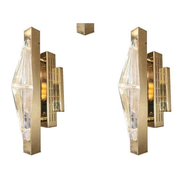Crystal Gold Sconces / Flush Mounts by Fabio Ltd For Sale - Image 10 of 10