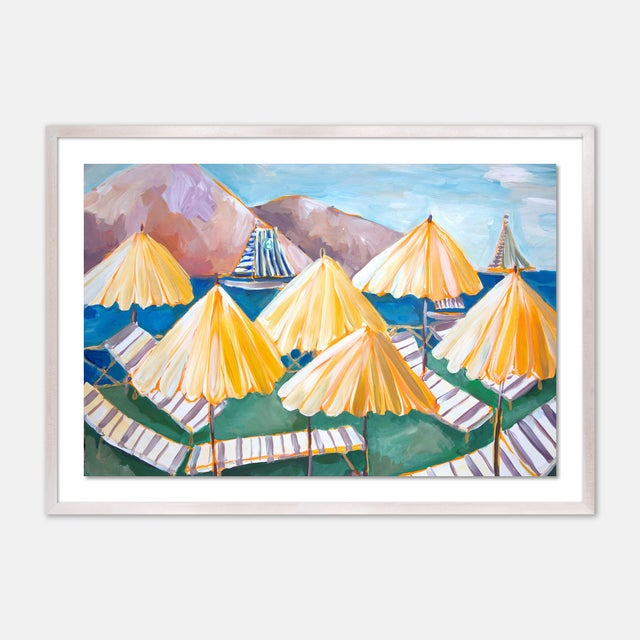 Cabana 1 by Lulu DK in White Wash Framed Paper, Medium Art Print For Sale - Image 4 of 4