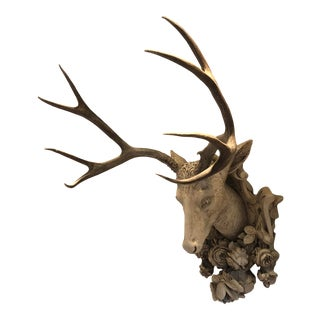 Plaster Stag Mount For Sale