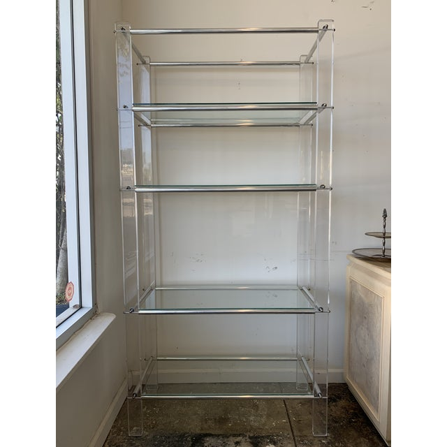 Lucite and Chrome Tube Display & Shelving Unit For Sale - Image 10 of 10