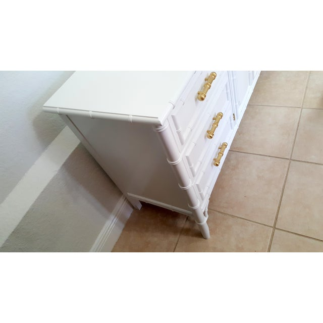 Dixie Aloha Faux Bamboo 9 Drawer Dresser For Sale In Naples, FL - Image 6 of 10