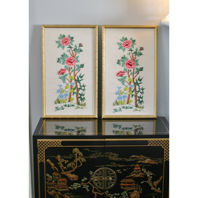 Vintage Needlepoint Pictures - Pair - Image 7 of 7