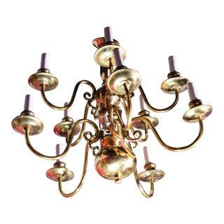Colonial Williamsburg Brass Chandelier