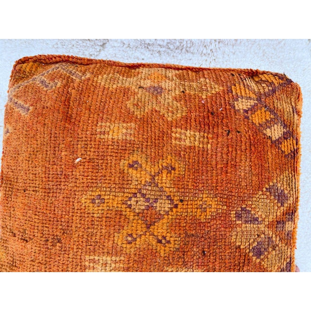 Textile Boujaad Handmade Pouf Cover For Sale - Image 7 of 13