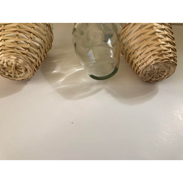Wicker Wrapped Demijohn Bottles - Set of 3 For Sale - Image 10 of 13
