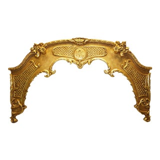 1960s Vintage Louis XVI Style Giltwood Window Cornices For Sale