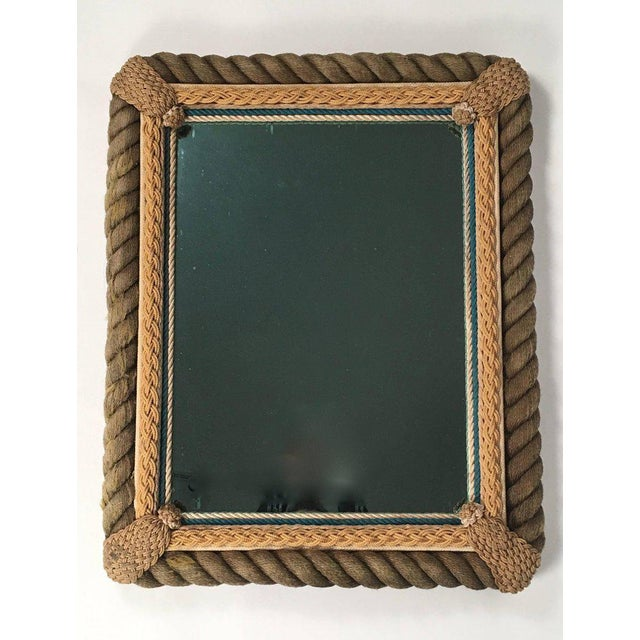 Sailor Made Nautical Ropework Mirror For Sale - Image 4 of 12