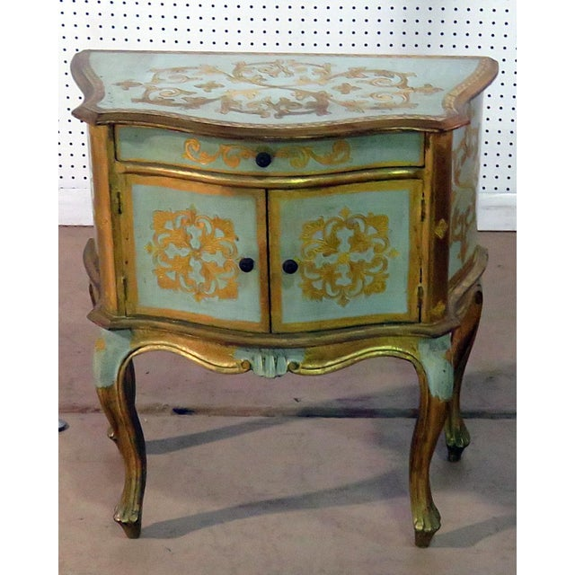 Antique Louis XV Style Distressed Painted Side Table For Sale - Image 9 of 9