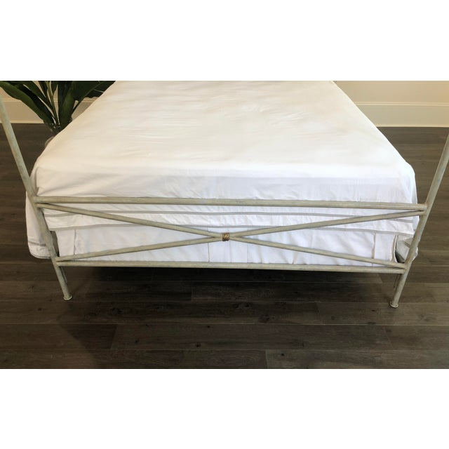 Not Yet Made - Made To Order Orleans Upholstered Canopy Queen Size Bed For Sale - Image 5 of 7