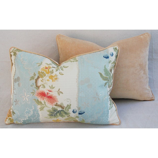 Scalamandre Silk Lampas Pillows - A Pair - Image 10 of 11