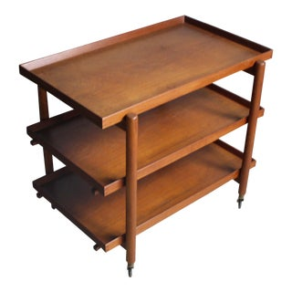 Poul Hundevad Danish Modern Expandable Bar Cart For Sale